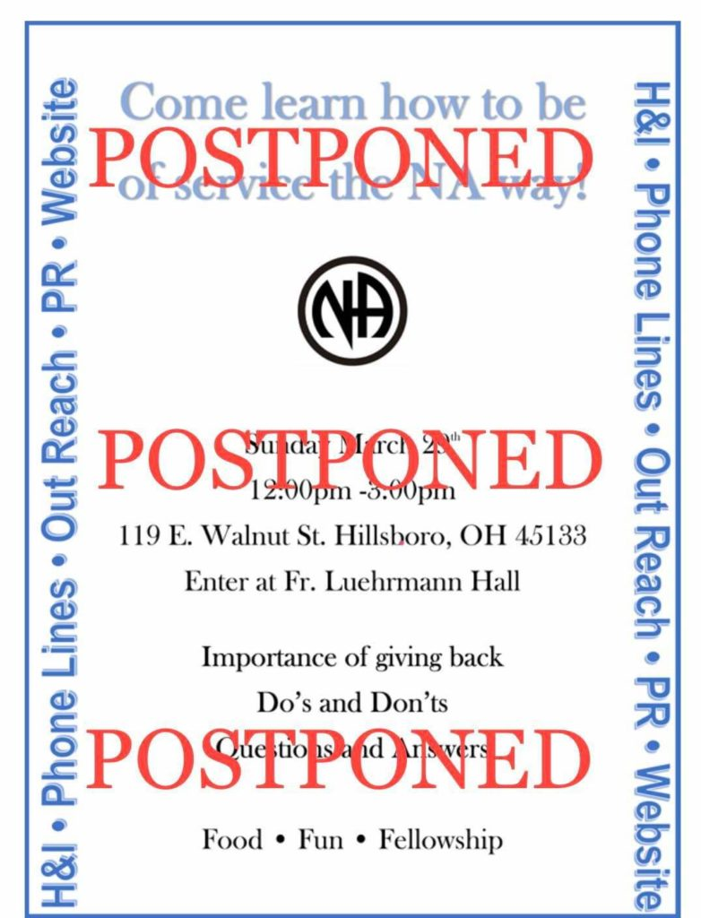 H&I Postponed